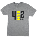 4RUN2 Grey Soft Tee - Black and Gold