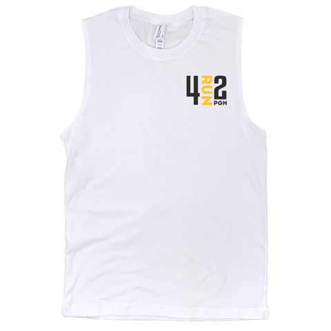 Men's 4RUN2 Tank: White Cotton