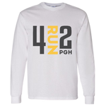 4RUN2 Long Sleeve: White Cotton