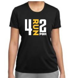 Women's 4RUN2 Black Tech Tee