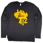 4RUN2 Unisex Black and Gold Long Sleeve
