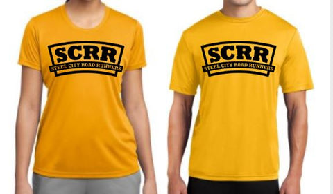 SCRR Men's and Women's Gold Tech Tee