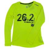 Men's 26.2 In-Training Long: Brooks Distance Long Sleeve (Neon)