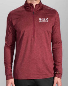 SCRR Men's Burgundy  1/2 Zip