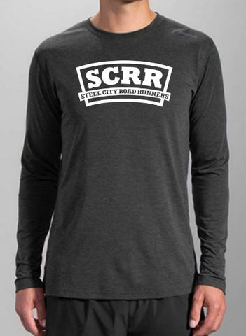 SCRR Men's Long Sleeve - Heather Black