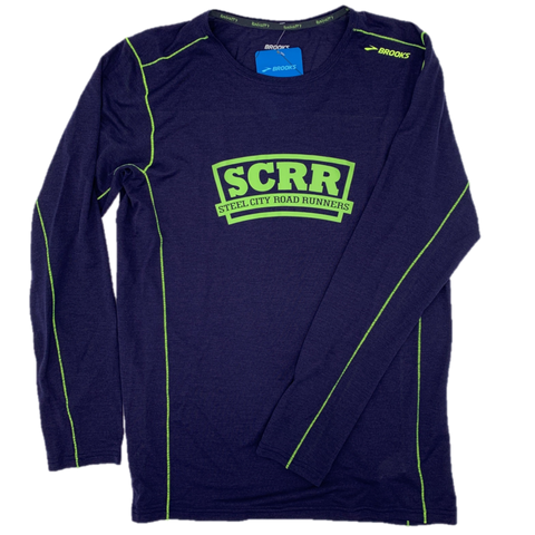 SCRR Men's Navy Ghost Long Sleeve