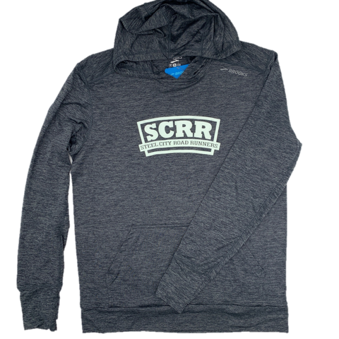 SCRR Men's Grey Tech Hoodie - Large Logo