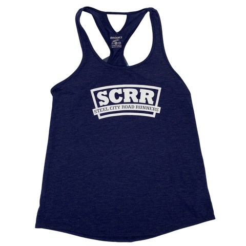 SCRR Women's Navy Brooks Tank