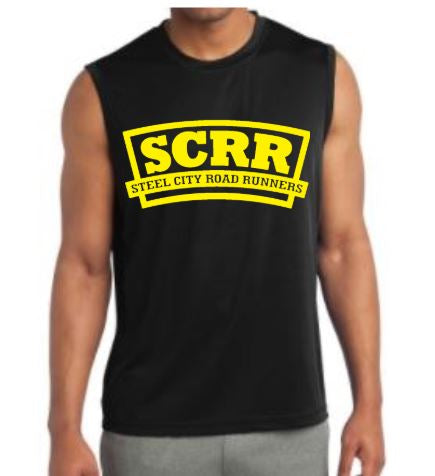SCRR Men's Black and Gold Tech Tank