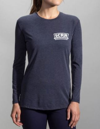 SCRR Brooks Women's Distance Navy Long Sleeve
