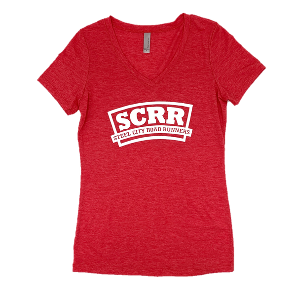 SCRR Women's Red Casual Tee