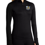 Women's In-Training: Brooks Dash Quarter Zip (Black)