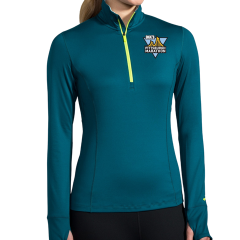 Women's In-Training: Brooks Dash Quarter Zip (Teal)