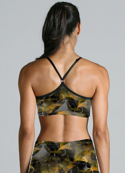 The Spirit of Black and Gold Sports Bra