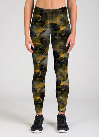 The Spirit of Black and Gold Legging