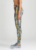 Runner of Steel Legging - Red and Yellow Print