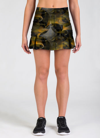 The Spirit of Black and Gold Skirt