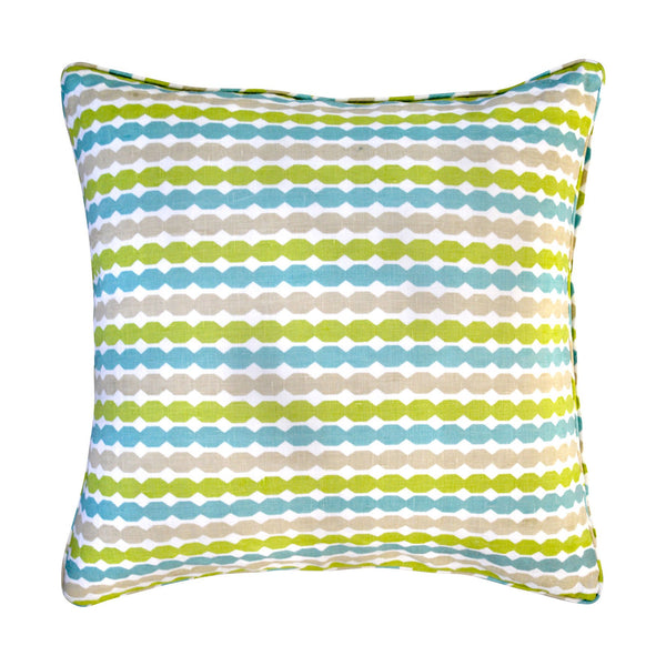 Ivory By Madras Link Fairhaven Blue/Green Cushion 55cm