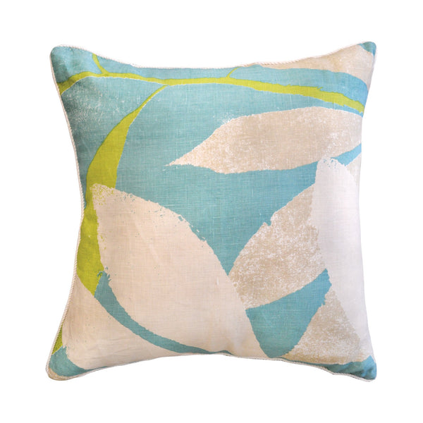 Ivory By Madras Link Foster Blue/Green Cushion 55cm