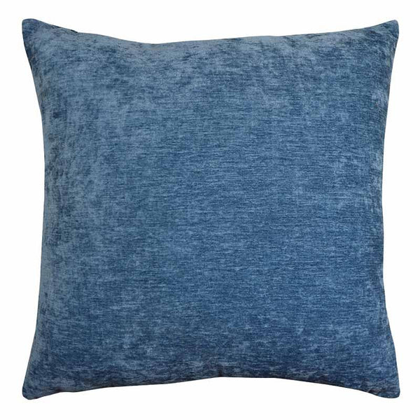 Madras Link Brooklyn Blue Chenille Cushion 50cm