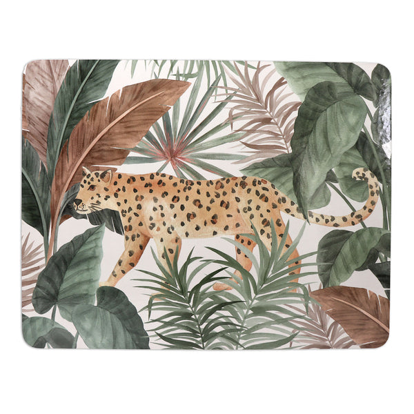 Madras Link Leopard Neutral Rectangle Placemat Set of 4