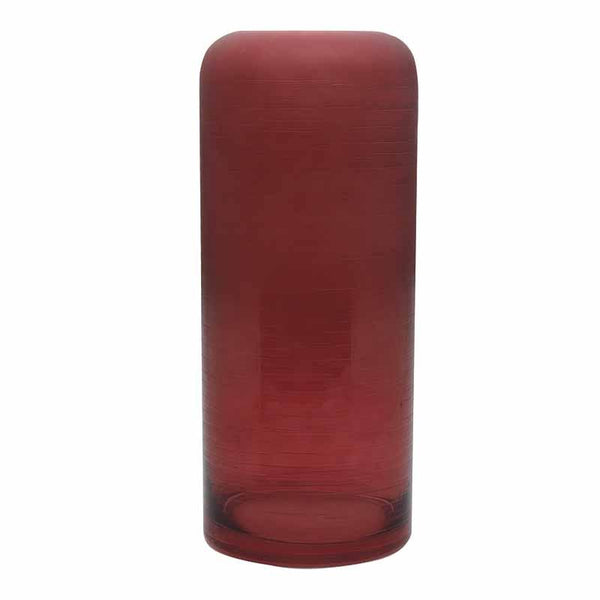 Madras Link Dusk Claret Frosted Glass Vase