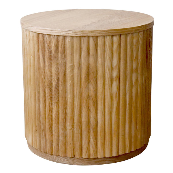 Madras Link Sanctuary Oak Ribbed Side Table