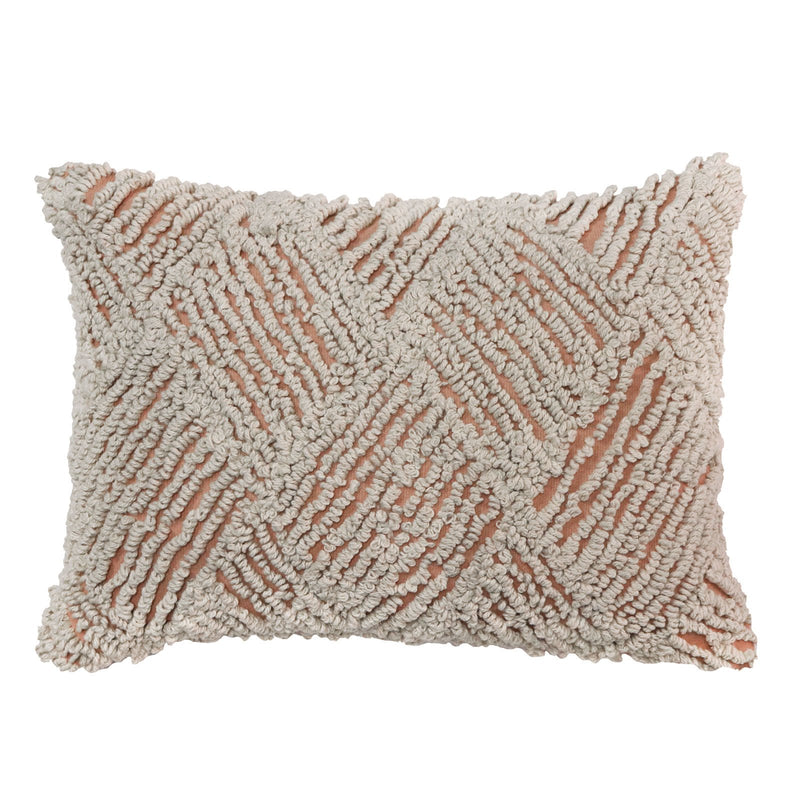 Madras Link Jervis Embroidered Blush Cushion 35x50cm
