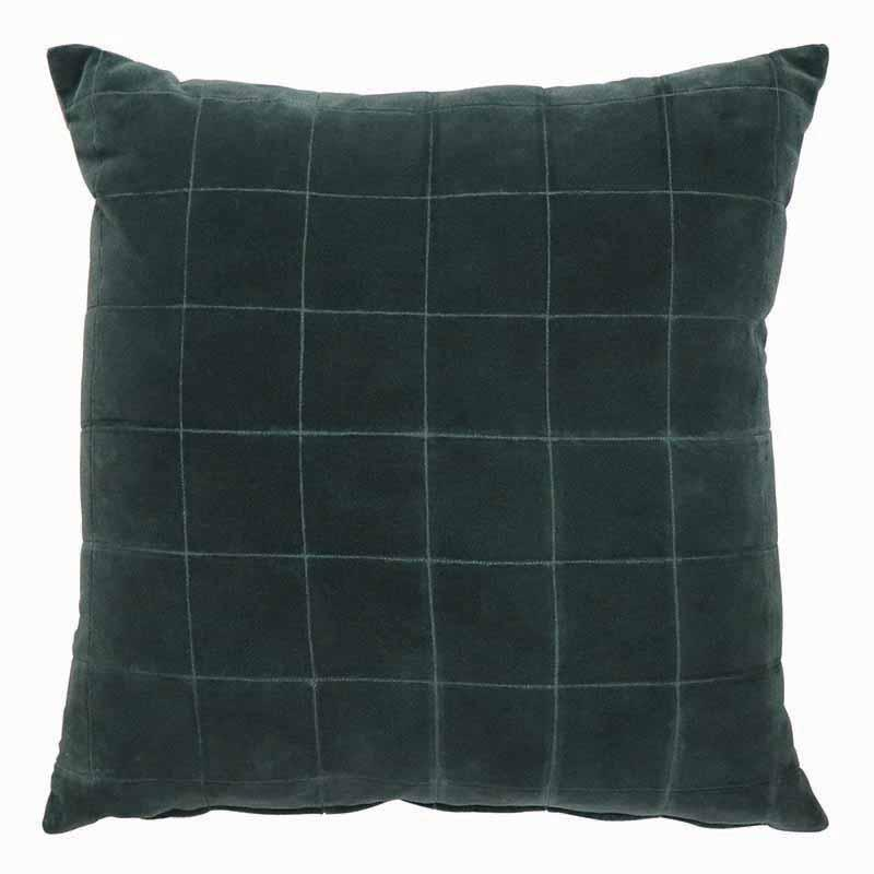 Country Style Selby Teal Velvet Cushion 50cm