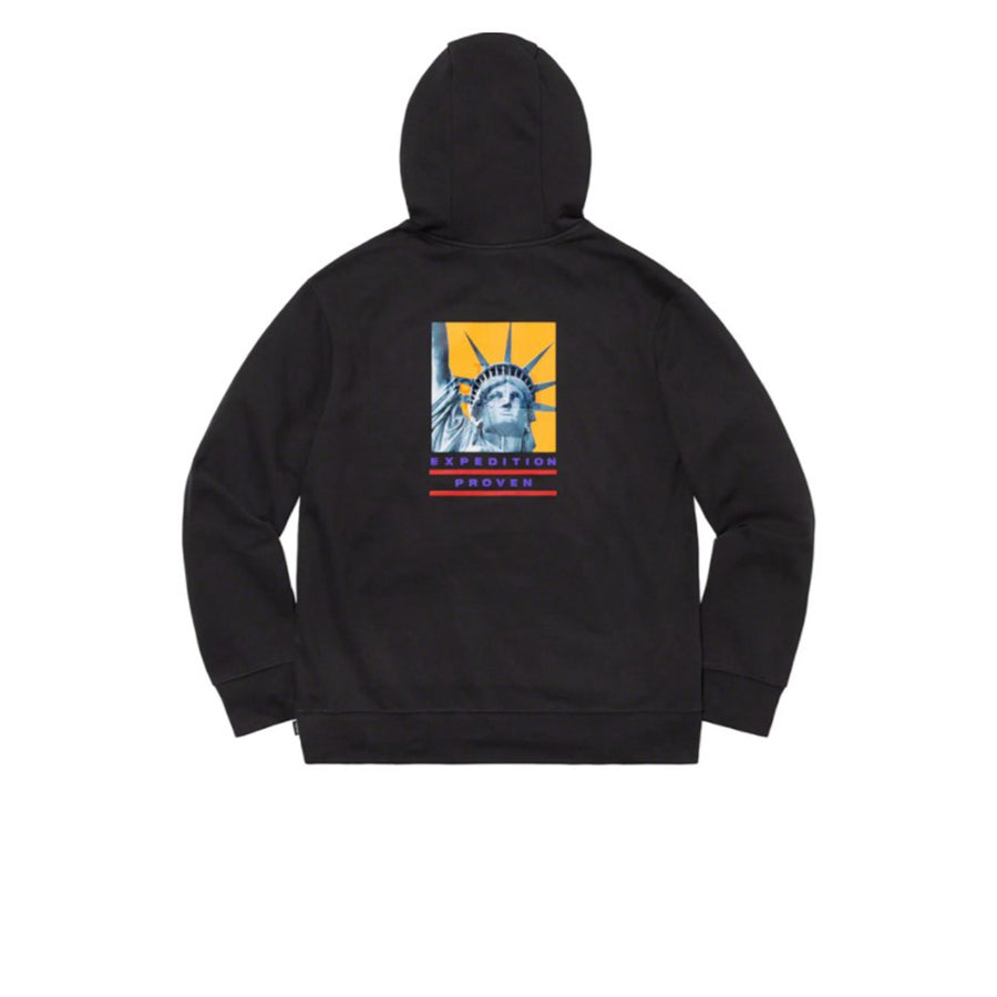 THE NORTH FACE X SUPREME STATUE OF LIBERTY HOODED SWEATSHIRT BLACK FW19