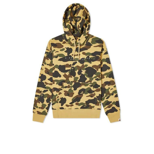 BAPE WORLD GONE MAD HOODIE 1ST CAMO YELLOW