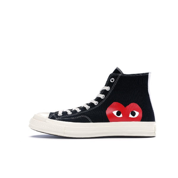 "CONVERSE CHUCK TAYLOR ALL-STAR 70S HI COMME DES GARCONS PLAY ""BLACK"" 2015 150204C"