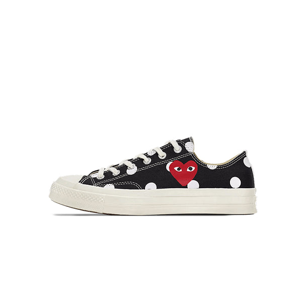 "CONVERSE CHUCK TAYLOR ALL-STAR 70S OX CDG PLAY ""POLKA DOT BLACK"" 2017 157248C"