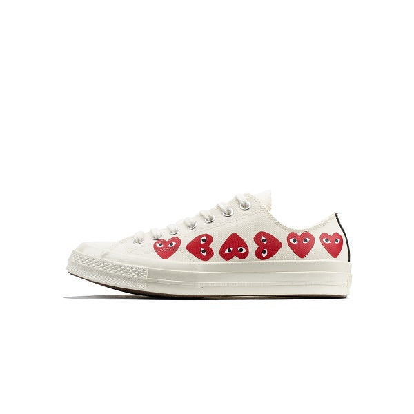 "CONVERSE CHUCK TAYLOR ALL-STAR 70S X CDG PLAY ""MULTI-HEART WHITE"""