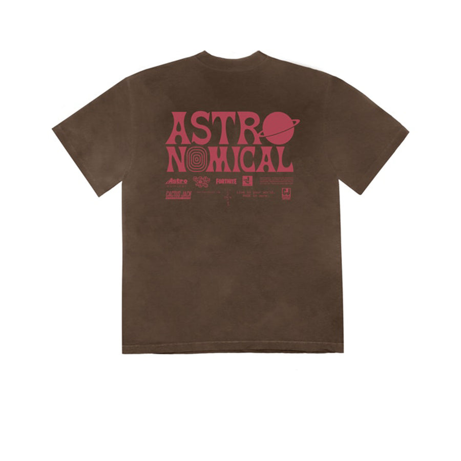 TRAVIS SCOTT WORLD EVENT TEE BROWN SS20