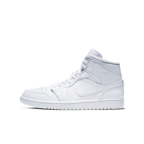 "AIR JORDAN 1 MID ""TRIPLE WHITE"" 2019 554724-129"