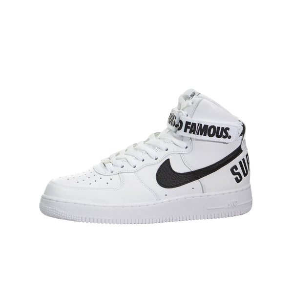 SUPREME X NIKE AIR FORCE 1 HIGH WORLD FAMOUS WHITE 2014
