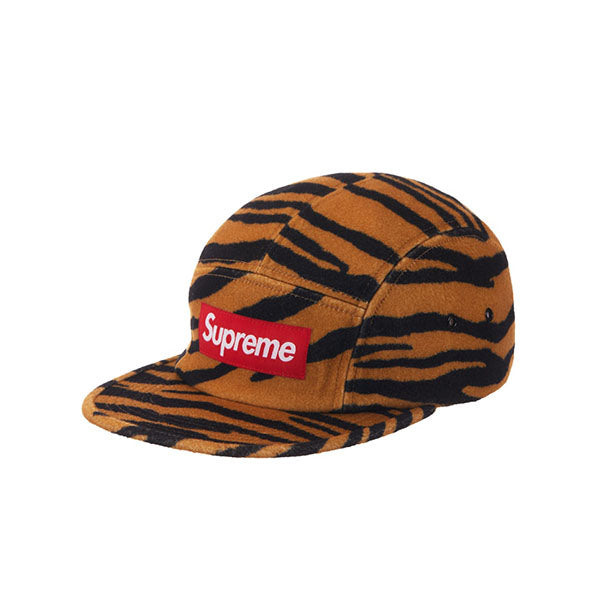 SUPREME WOOL CAMP CAP TIGER STRIPE FW19
