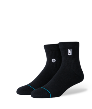 STANCE HOOP NBA LOGOMAN ST QUARTER-LENGTH SOCKS BLACK