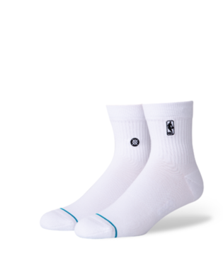 STANCE HOOP NBA LOGOMAN ST QUARTER-LENGTH SOCKS WHITE