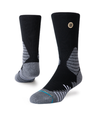 STANCE ICON HOOPS CREW SOCKS BLACK
