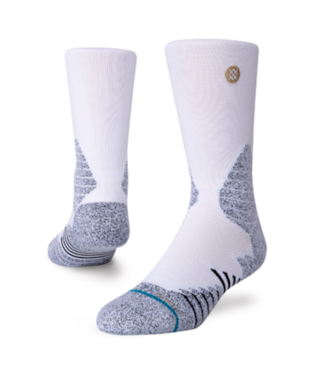 STANCE ICON HOOPS CREW SOCKS WHITE