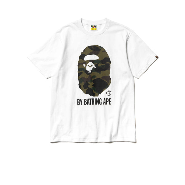 BAPE 1ST CAMO BY BATHING TEE WHITE GREEN SS19