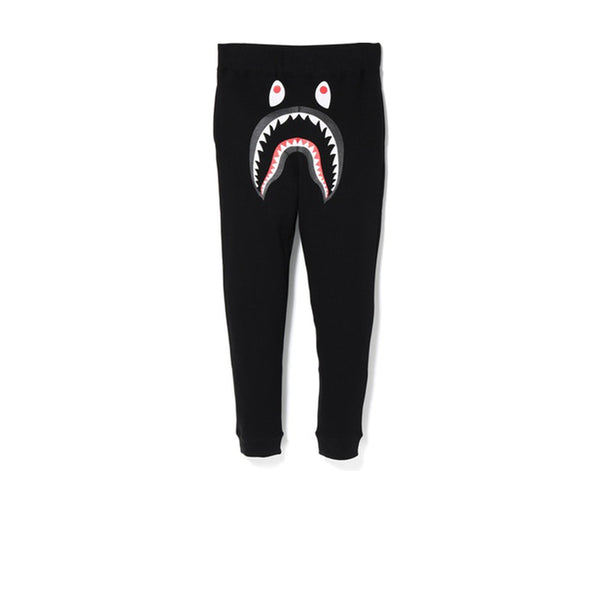 BAPE SHARK SLIM SWEAT PANTS BLACK/GREEN FW18