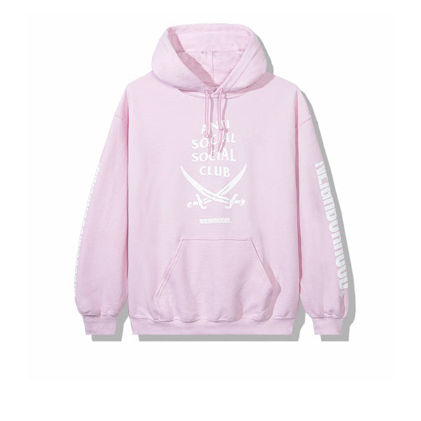 NEIGHBORHOOD X ANTI SOCIAL SOCIAL CLUB 6IX HOODIE PINK