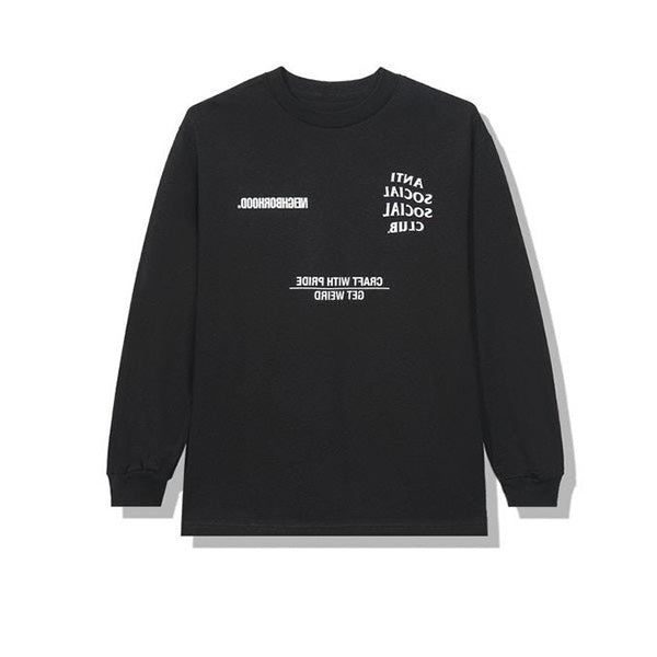 NEIGHBORHOOD X ANTI SOCIAL SOCIAL CLUB AW05 LONG SLEEVE TEE BLACK