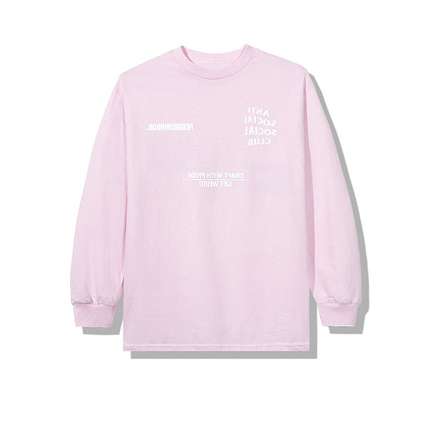 NEIGHBORHOOD X ANTI SOCIAL SOCIAL CLUB AW05 LONG SLEEVE TEE PINK