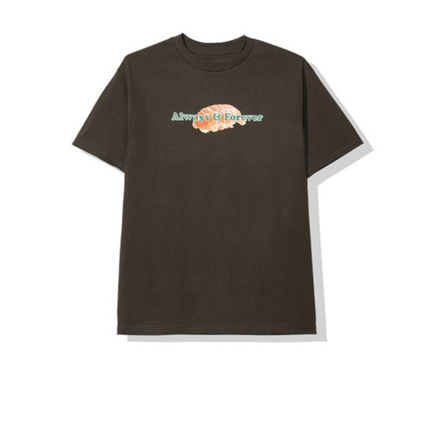 ANTI SOCIAL SOCIAL CLUB ALWAYS AND FOREVER TEE BROWN