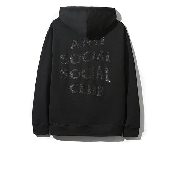 ANTI SOCIAL SOCIAL CLUB BLINDED BACK HOODIE BLACK (WITH BLACK GLITTER)