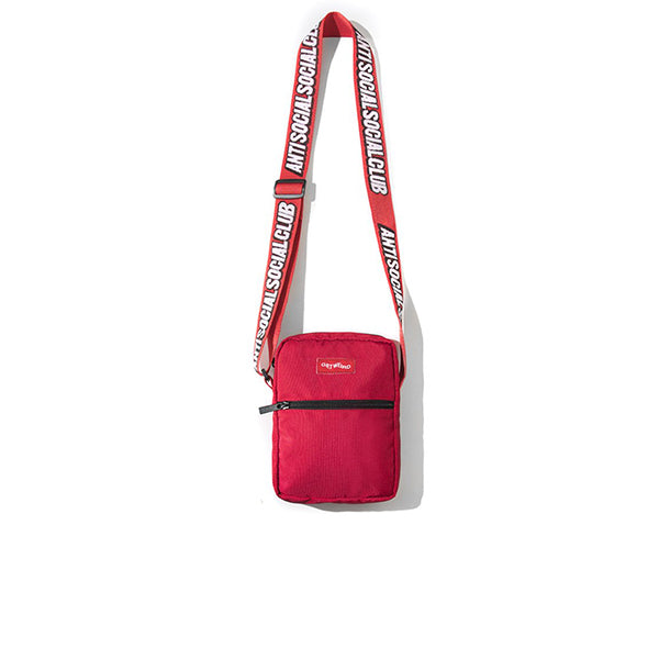 ANTI SOCIAL SOCIAL CLUB GET WEIRD SIDE BAG RED